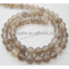 Graue Achat Runde Perlen / 4mm / 6mm / 8mm / 10 / mm / 12mm Klasse A