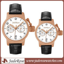 Japan Movement High Quality Edelstahl Uhr mit Lederband