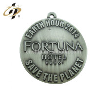 Hot sell die casting custom car logo antique silver charm and pendant
