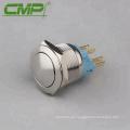 22MM Interruptor de botón pulsado de 1NC 1NC, 4 patas, al ras de la descarga