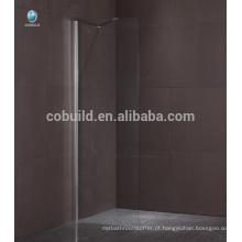 K-563 alibaba china andam no chuveiro banheira tela de chuveiro sem moldura única porta vidro chuveiro tela