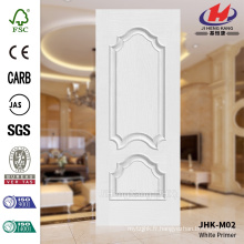 JHK-M02 Bulge Design Bedroom White Primer Empossing HDF Door Skin Vente populaire Suède
