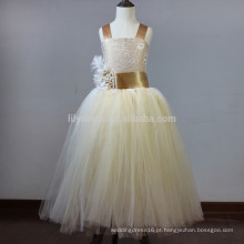 Custom A-Line Top Tank Aace Up Back Organza saia Flower Girl Vestidos Vestidos FGZ50 Girls Wedding Dresses