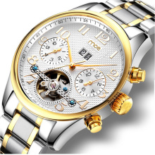 Toubillon Multi Function Stainless Steel Men Luxury Automatic Watch