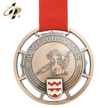 Médaille en bronze de judo en métal en relief sur mesure