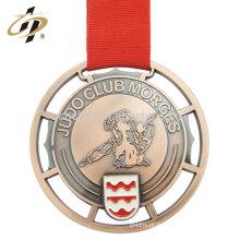 Cheap lembrança 3d personalizado em relevo de metal medalha de judô de bronze