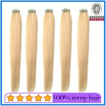 Human Hair Virgin Hair 100g 20inch 613# Blonde Color Brazilian Hair Silky Straight Style Tape Hair Extension Remy Hair