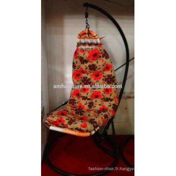 Nouvelle chaise de balançoire en rotin de tissu de conception