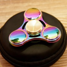Tangan Spinner Metal Rainbow Triangle Spinner Tangan Terkini
