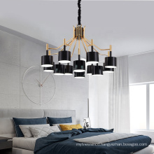 Luxury Contemporary Hotel Black Metal Chandelier Pendant lights