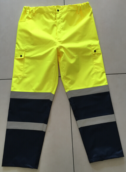 Rain Trousers Waterproof Reflective Safety