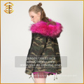 2017 New Design Women Real Jacket Hooded Winter Fur Parka
