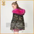 Фабрика оптовой изготовленной на заказ тавра зимы женщин Raccoon Fur Parka