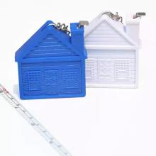 La casa de BSCI forma el llavero de la cinta métrica para la promoción