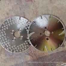 Disques de centre de disque de coupe et de meulage abrasifs techniques exquis
