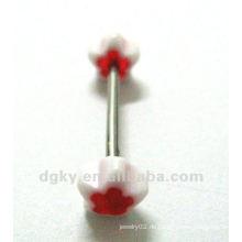 Acryl Sternform Zungenbänder Zungenbolzen Piercing