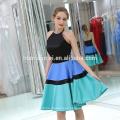 B046 vestido de noche largo trasero corto frente de la última moda de las mujeres