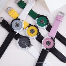 Neue Ankunftsart Shinning glitzernde Vorwahlknopf-Silikon-Uhren