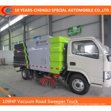 6wheels Road Sweeper Truck 95HP 2cbm Road Cleaning Truck