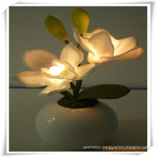 Orchid LED Artificial Flowers with Ceramics Pot for Promotion