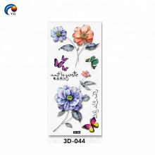 La fleur de CMYK 3D conçoit le tatouage de corps avec adaptent aux besoins du client