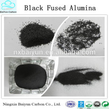 Fabricant meilleures ventes haute dureté noir Oxyde d'aluminium fondu