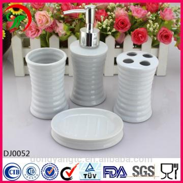 conjunto de banheiro de cerâmica branca china, conjunto de acessórios de banheiro, conjunto de banheiro