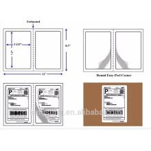 etiqueta autoadhesiva del envío de la media hoja del material de papel de la venta caliente