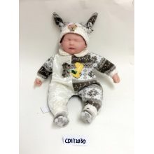 "16"" Stitching Clothes Baby Sleeping Vinyl Doll"