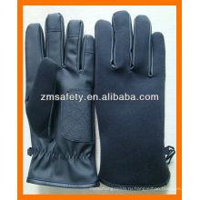 ПУ кожаные полицейские перчатки для зимы