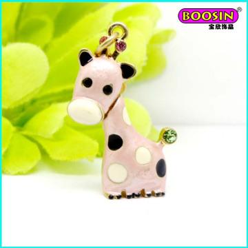Encanto de encargo encantador de la joyería del collar de los ciervos del esmalte de la aleación