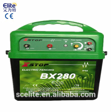 electric solar fence charger/solar electric fence energizer for big ranches/pulse electric fence
