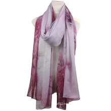 Fashion Chiffon 100%Silk Digital Printed Scarf (13-BR110303-9)