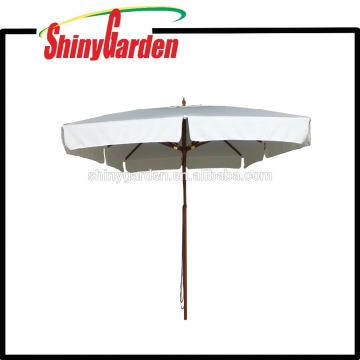 3 * 3M Patio Buche Square Umbrella mit Kunststoff-Läufer, Nabe und letzten Top 8 Rippen