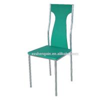 Grüner Restaurant Stuhl, Metall Esszimmerstuhl für Hotel