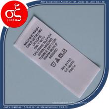 Etiqueta de encargo impresa / etiqueta de cuidado de lavado / etiqueta de rotulación de cinta