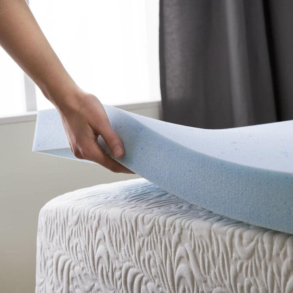 Memory Foam Mattress Topper Under Or Over Mattress Pad
