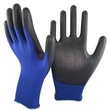 NMSAFETY Gant enduit en nylon bleu foncé de calibre 18