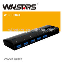 5Gbps superspeed 7 портов USB 3.0 HUB с адаптером питания adapter.usb 3.0 для ipad, CE, FCC, ROHS