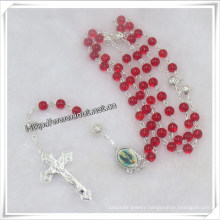Red Glass Smooth Beads Rosaries, New Rosary Necklace (IO-cr332)