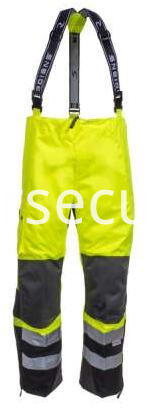 Unisex Green High Visibility Waterproof Overalls