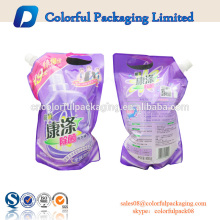 China beba la bolsa de encargo del canalón del bolso ziplock 8oz 12o 16oz que empaqueta para la bolsa de plástico de la bebida