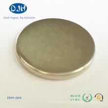 Imán de Neodymium NdFeB del disco magnético al por mayor del material para el embalaje