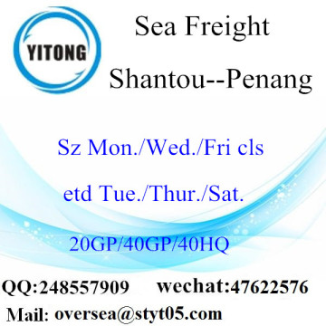 Shantou Port Sea Freight Shipping To Penang