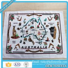 Impressão lisa de toalha de chá de linho do algodão 100% de 38x63cm