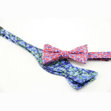 Polyester Jacquard Woven Men Self Bow Tie Floral Paisley Striped