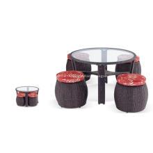Balcon de rotin de PE et de la conception de meubles en osier