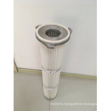 3 Lugs Flange Polyester Pleated Air Filter Cartridge