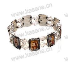 Heiße Verkaufs-Art- und Weiseantike-Heilige Fotos Metall-Rosenbeet-Armband