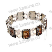Hot Sale Fashion Antique Saints Fotos Metal Rosary Bracelet